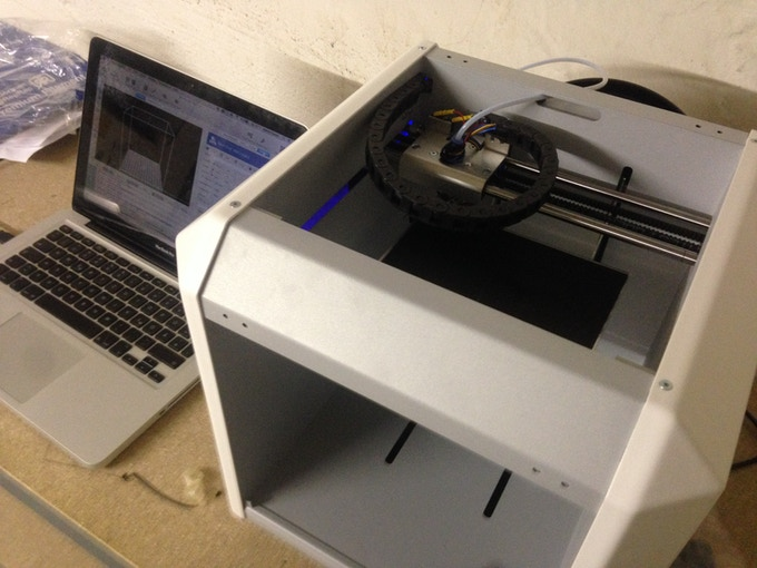 Printing the Pi holder prototype