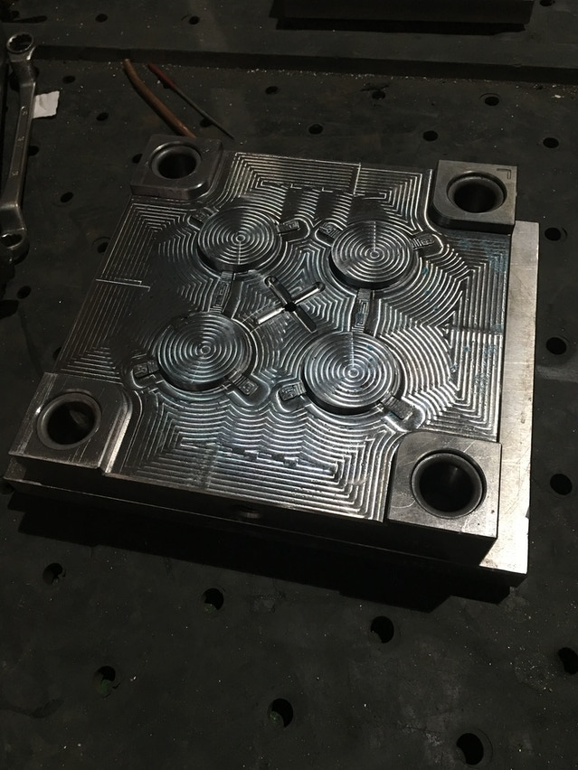 This is the other half of the steps piece. It is fresh off the CNC mill and still needs to be polished