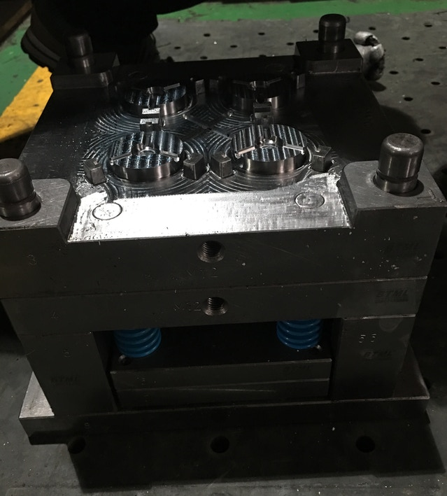 This mold is for the stepper piece that supports the axle and moves up and down the steps