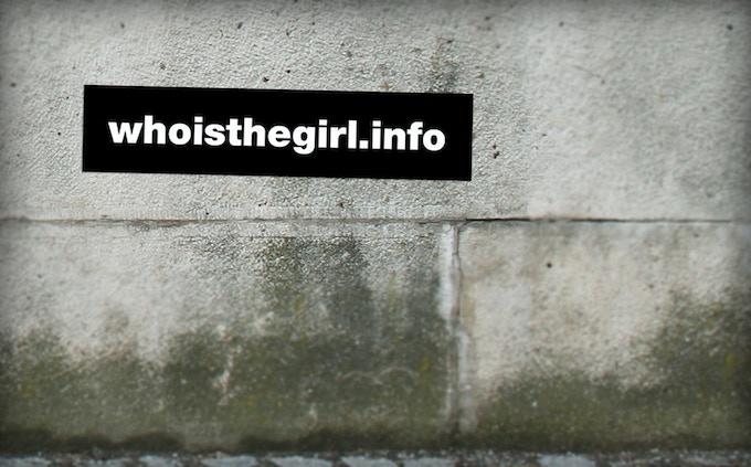 whoisthegirl.info bumper sticker
