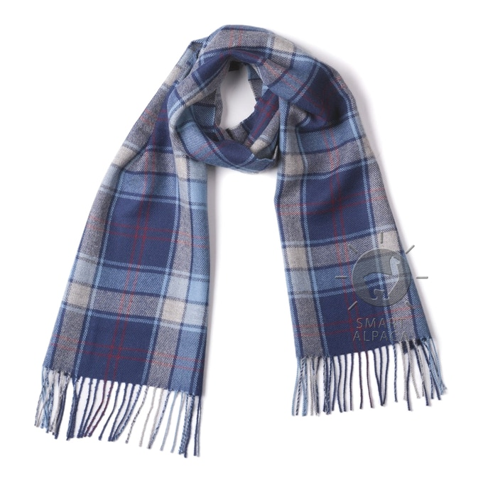 100% Baby Alpaca Scarf - Smart Alpaca -  Scottish Plaid Woven Scarf