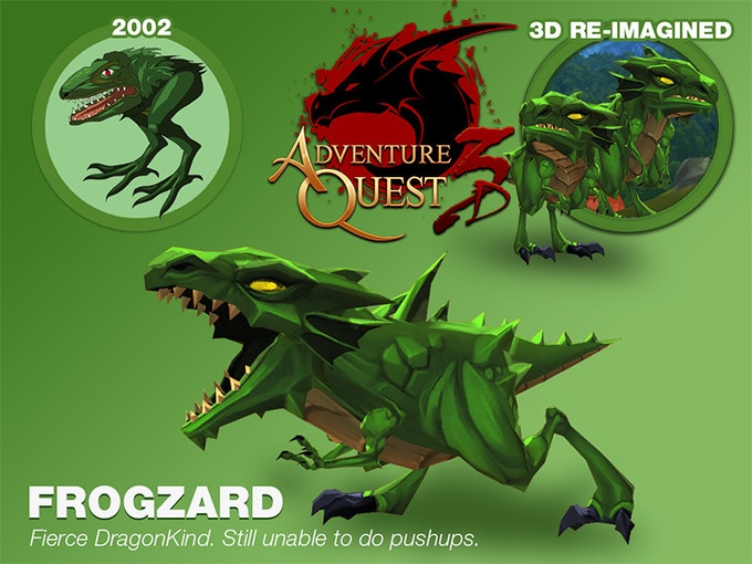 The original AdventureQuest's 1st monster.