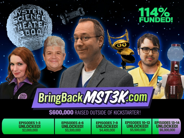You did it: you brought backMYSTERY SCIENCE THEATER 3000!Thanks to you, MST3K shot FOURTEEN NEW EPISODES in 2016, including a new holiday special, and returned in 2017 on Netflix!