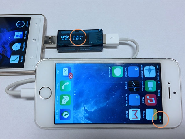 Charge iPhone from Android phone with OTG