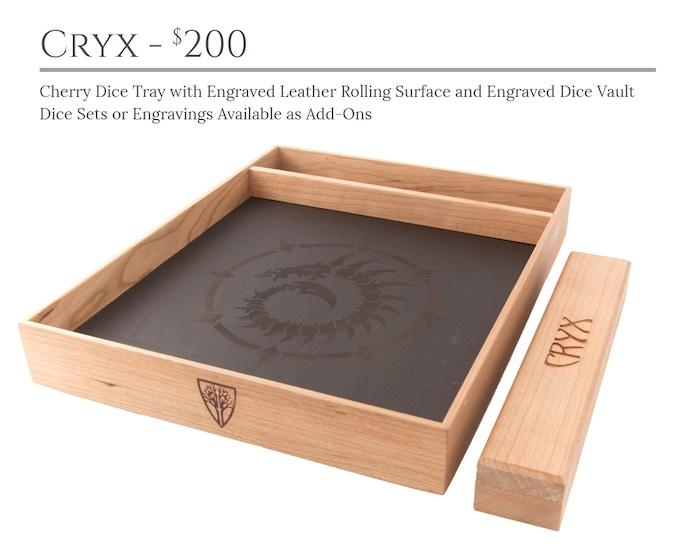 Cryx Dice Tray System: Cherry