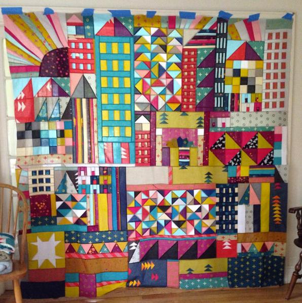 Maritza Soto's Village Quilt