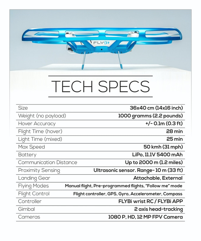 FLYBi Tech Specs