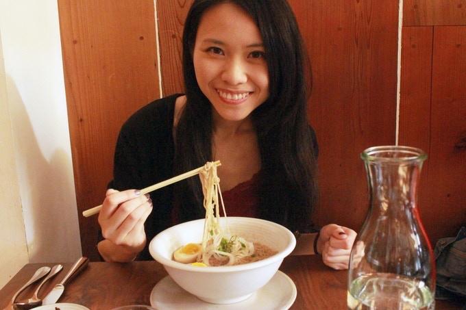 Me Eating Ivan Ramen at Bar Tartine, San Francisco