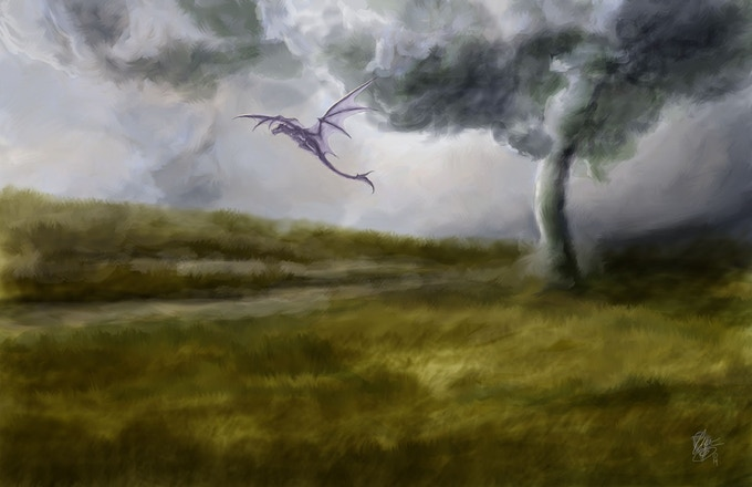 Tornados, thunder storms, high winds, and other weather events present challenges and opportunities for airborne wyrms.