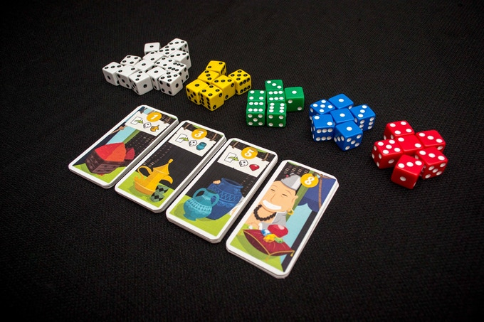 (Image of prototype game - components not final)
