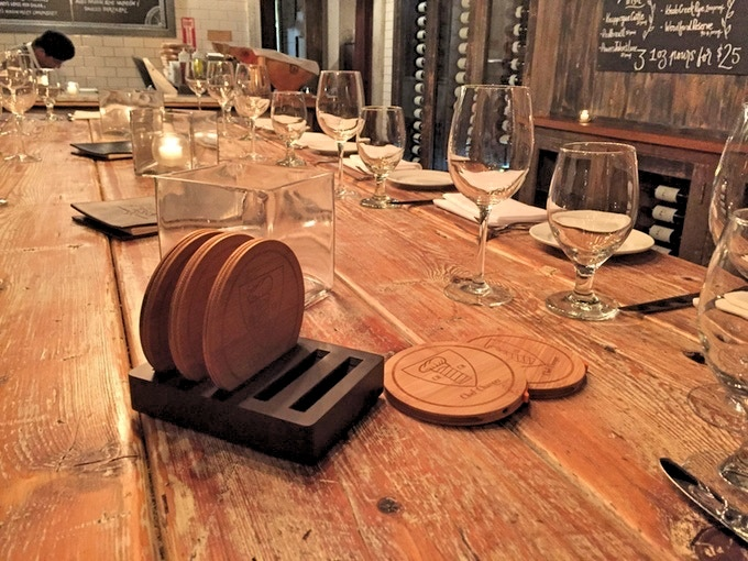 Where it all began… The Chef's table at Fraunces Tavern, New York, NY