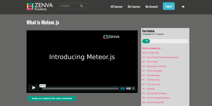 Codemurai and Zenva Academy courses are different things. Codemurai will be built with a mobile-first mentality and won't do video. Zenva Academy  video courses show their best when on a large screens and a fast Internet connection