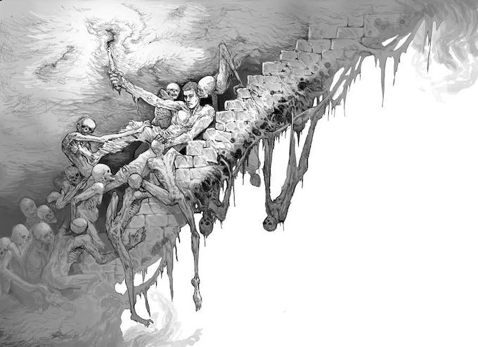 Artwork by Stephen Oakley for The Unlike Light.