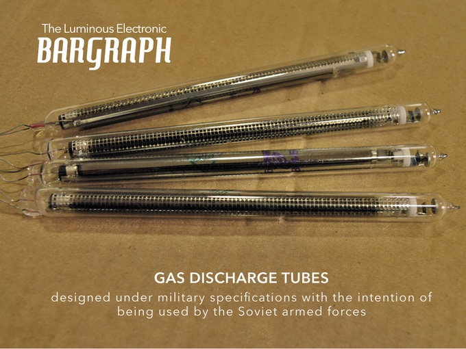 The vintage display tubes from the Soviet era