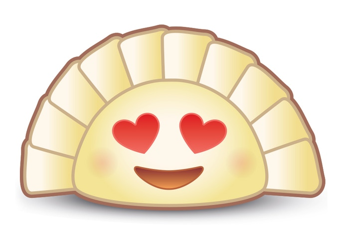 Proposed dumpling emoji glyph (personified version), by Yiying Lu. Licensed for non-commercial use. Feel free to share and use with creative attribution to @YiyingLu.