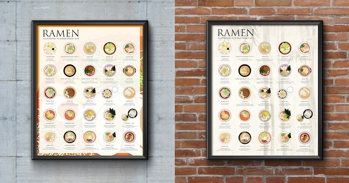 The Ramen Poster, 16x20, Festival & Traditional