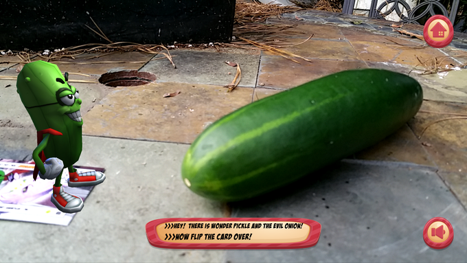 Real Cuke Meeting Augmented Reality Pickle!