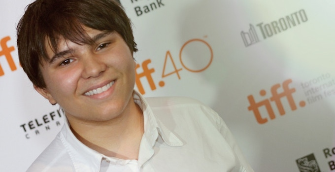Jonah Bryson on the red carpet at TIFF 2015