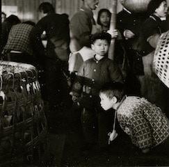 """Photo #2 - 2 boys at the market (taken by Ann Tompkins) - 12""""x12"""""""