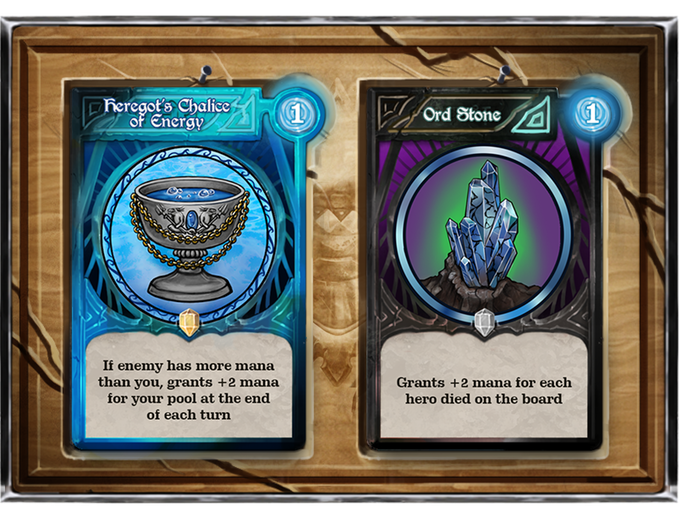 Each element has different mentalities in terms of artifacts. Mana bonus artifacts for water allow players to spend more mana to gain regen whereas underworld's mana bonus artifacts grant advantage by element's fragility