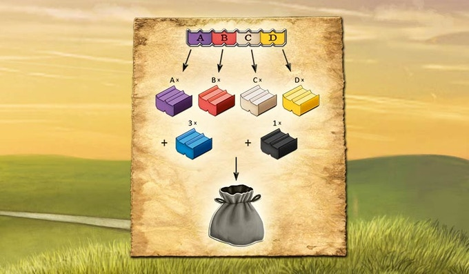 Grab bag content in each round