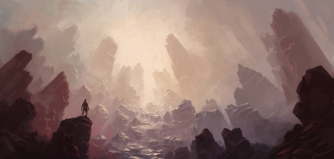 Trampled Plains in the universe of Ledei. Also, entrance to our battle arena mode in Last Hand