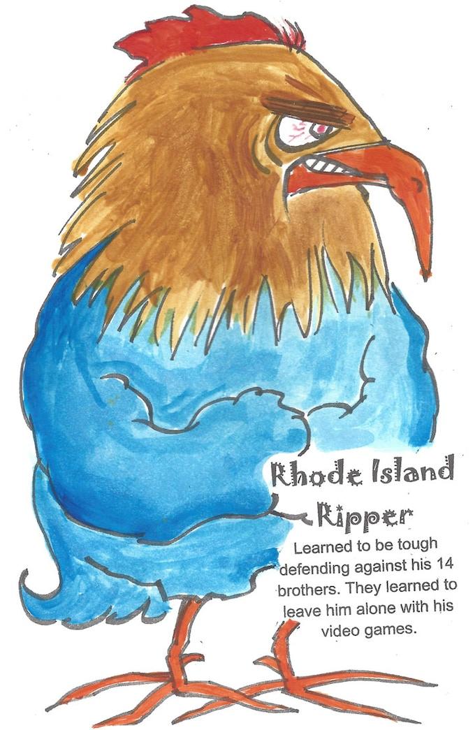 ChickenFightz Bird Fighter Rhode Island Ripper