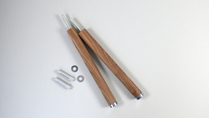 Each package comes in one pair of KRZBERG, dowels included