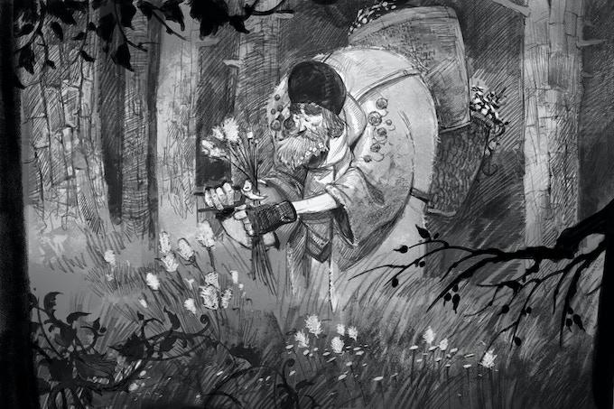 Art book illustration
