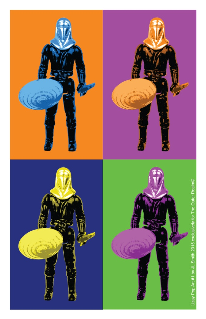 Uzay Head Man Pop Art print by Jennifer Smith