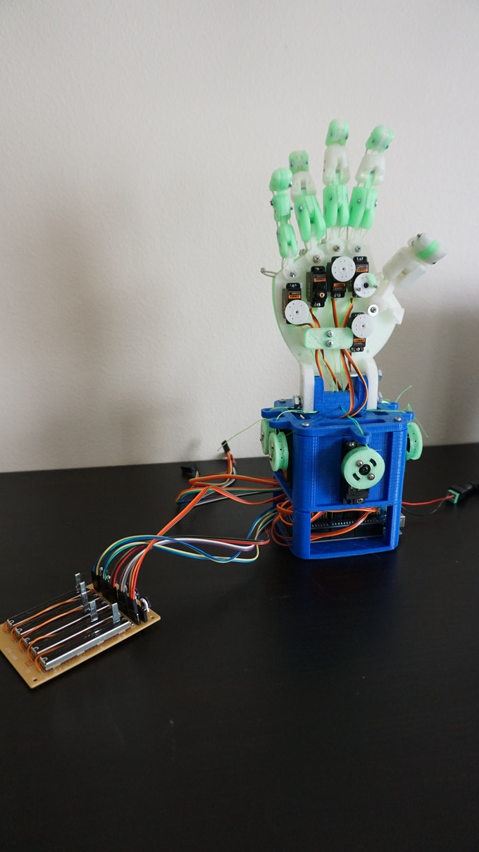 Hobby Hand Assembled with Analog Controller