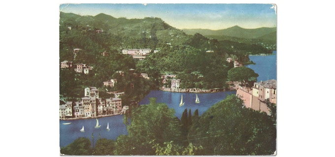 A view of Portofino from the 50's (not much different nowadays)