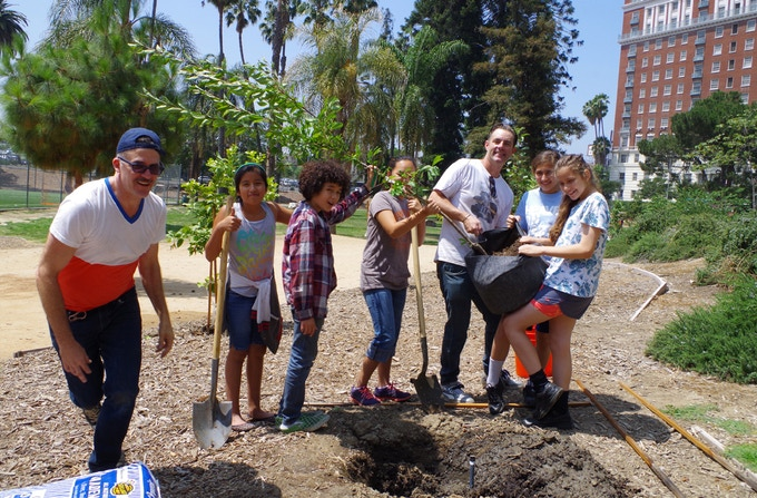 Urban Fruit Trails with Hearts of Los Angeles, 2014. The very first Urban Fruit Trail!