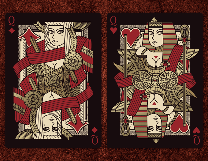 Omnia the golden age poker playing cards by thirdway for Ecksofa omnia 002 ii