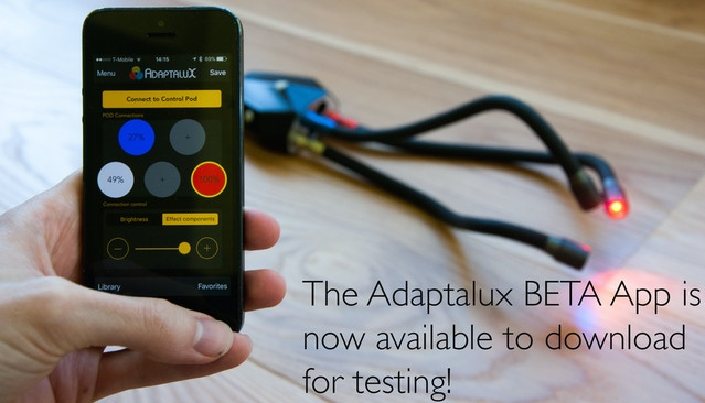 Adaptalux App BETA is currently LIVE!