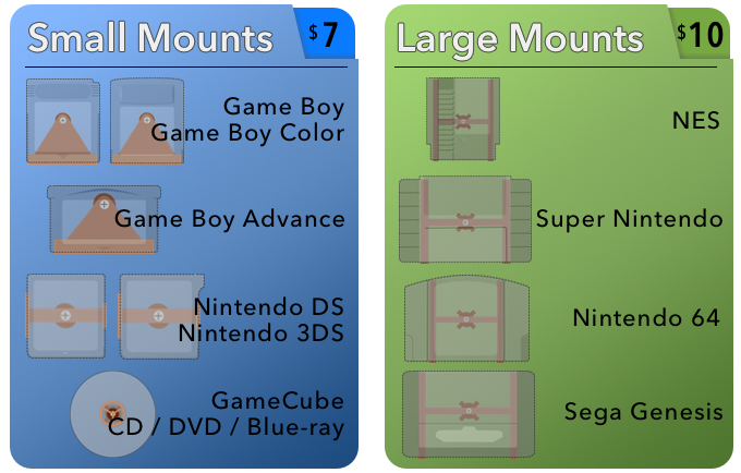 Small and Large Mounts
