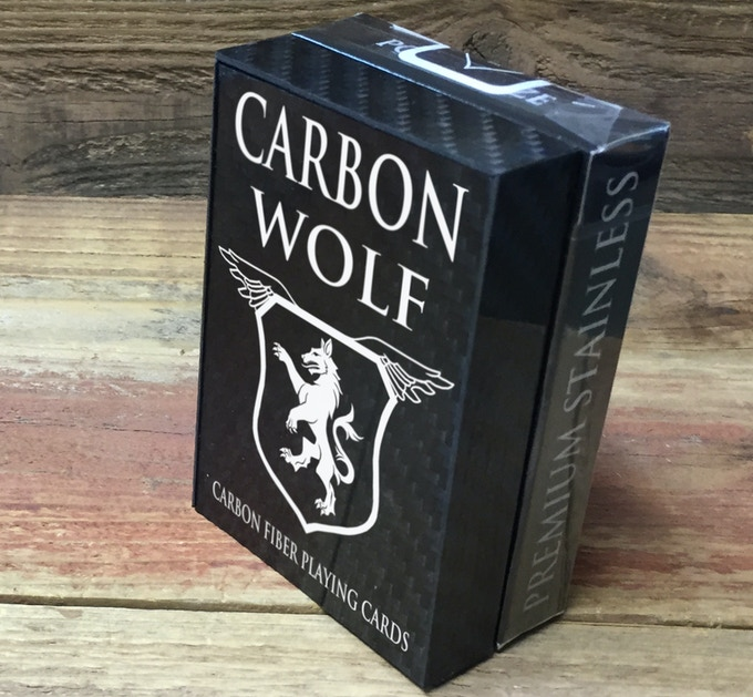 Carbon Box next to a Bicycle Deck