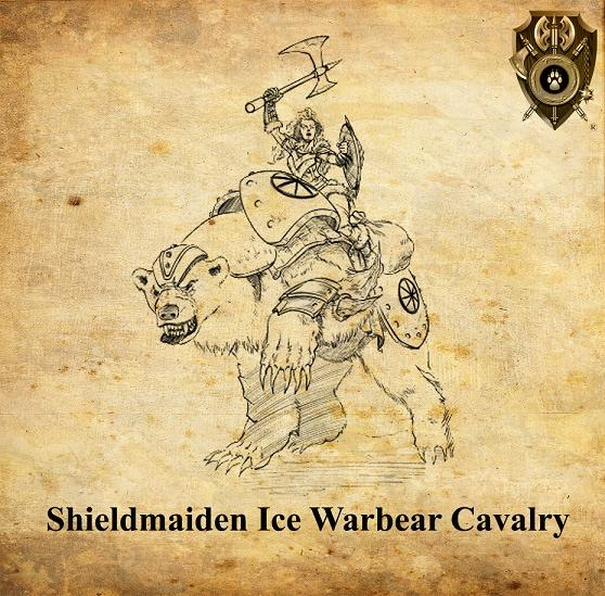 One of the models from the Ice Warbear Monstrous Cavalry