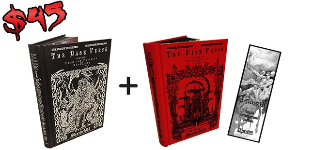 Second book is a choice of whichever Sharkchild book you want. It could even be another copy of The Dark Verse, Vol. 1!