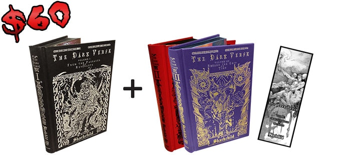Second and third books are a choice of whichever Sharkchild books you want. They could even include more copies of The Dark Verse, Vol. 1!