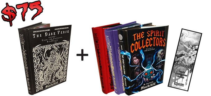 Second, third, and fourth books are a choice of whichever Sharkchild books you want. They could even include more copies of The Dark Verse, Vol. 1!
