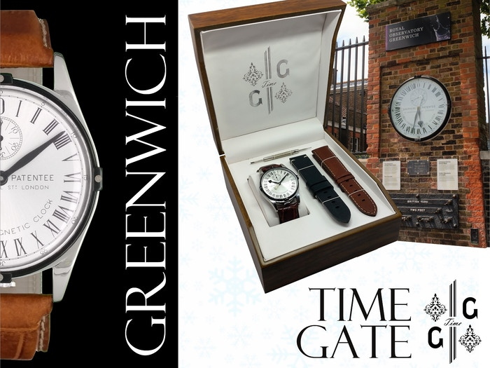 Limited luxury wrist version of the GMT Shepherd Gate Clock, since 1852 on the  Observatory's Wall, Greenwich Prime Meridian, UK