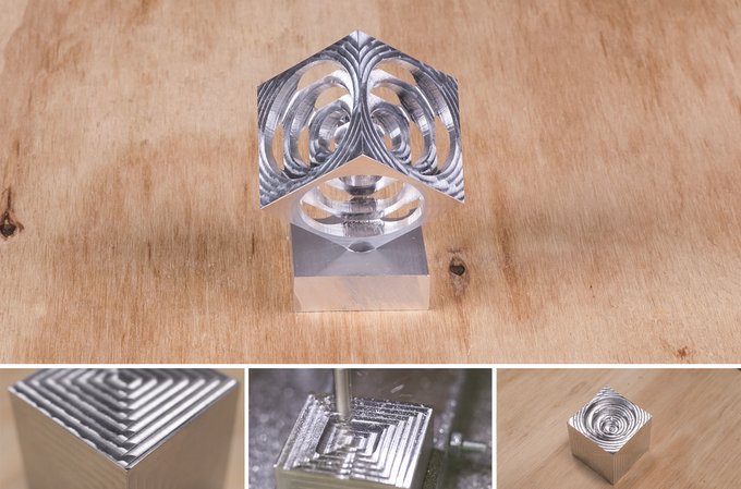 Turners Cube in aluminium