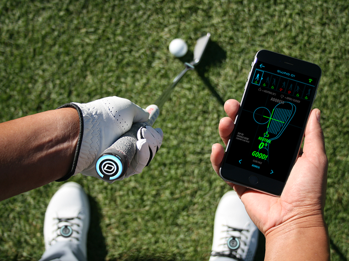 The world's first complete swing and footwork analyzer for golf using four sensors for 4x accuracy.