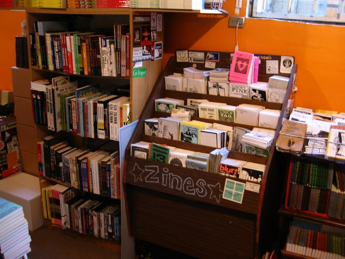 2003: We opened our first public store where people could come browse our zines and patches and stickers and books in person
