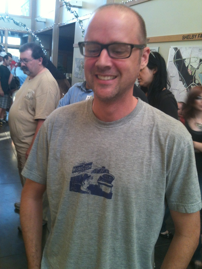 2005 is the year this shirt was made; but we met this man wearing it in Memphis in 2012!