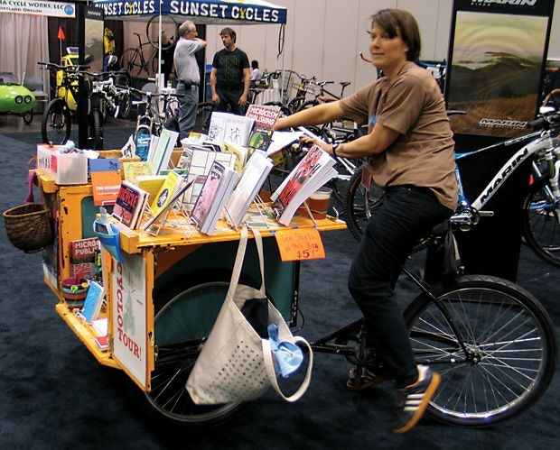 2010: The Zine Trike joined Microcosm and brought us to all sorts of fun new places, verrrry slowly