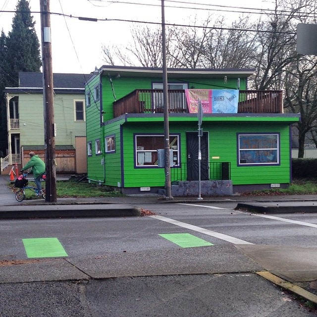 2014: We manage to buy a falling-over building in Portland, just blocks from the space we were displaced from in 2007. A new foundation, a fresh coat of paint, and we're already ready to start growing out of it!