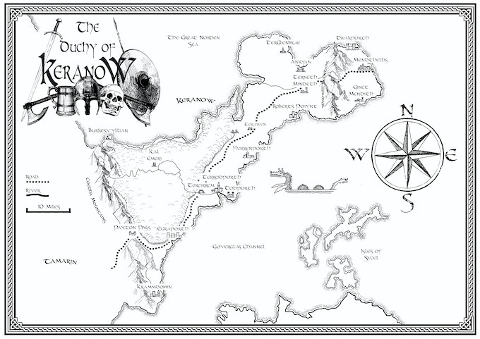 Map of the Duchy, where about half the adventure takes place