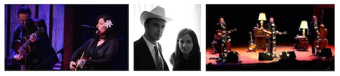 With Paula Cole (L), Lori McKenna (C) & Josh Ritter (R)